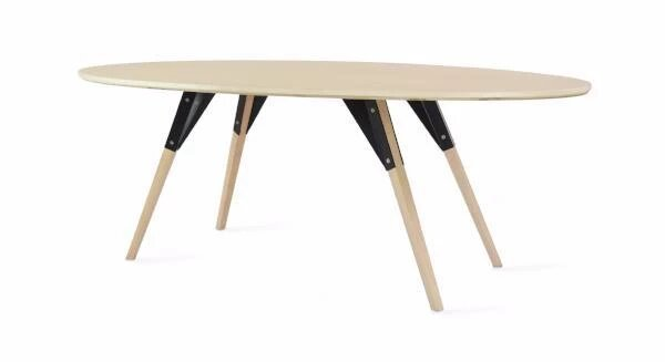 Clarke Coffee Table Thin Rectangle Black And Maple