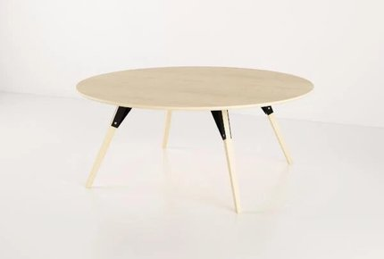 Clarke Coffee Table Large Circle Black And Maple