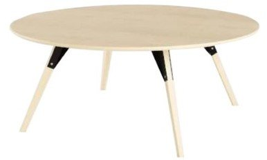 Clarke Coffee Table Thin Oval Black And Maple