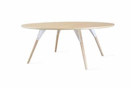 Clarke Coffee Table Large Circle White And Maple