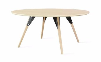Clarke Coffee Table Small Circle Black And Maple