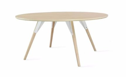 Clarke Coffee Table Small Circle White And Maple