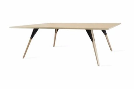 Clarke Coffee Table Large Square Black And Maple