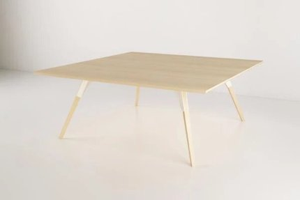 Clarke Coffee Table Large Square White And Maple