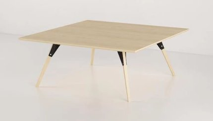 Clarke Coffee Table Small Square Black And Maple