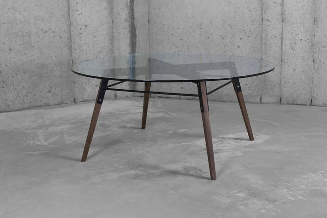 Ross Coffee Table Walnut And Black