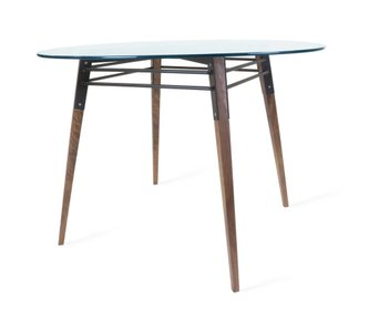 Ross Dining Table Walnut And Black