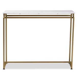 Baxton Studio Renzo Console Table Brushed Gold