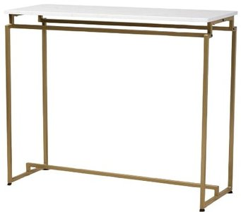 Renzo Console Table Brushed Gold