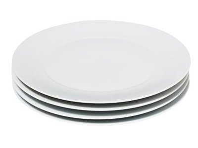 Snowe Dinner Plates White (Set of 4)