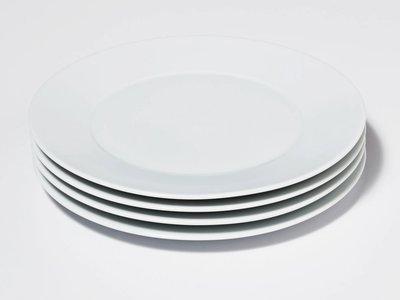 Snowe Salad Plates White (Set of 4)