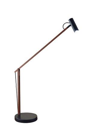 ADS360 Crane LED Desk Lamp Black And Dark Walnut
