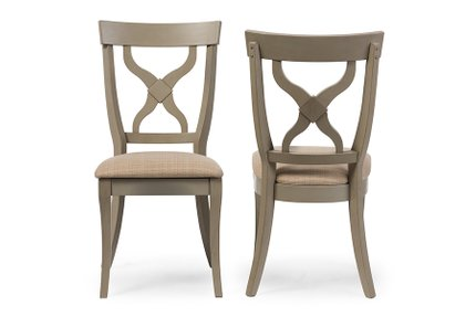 Baxton Studio Balmoral Dining Chair Distressed Light Gray (Set of 2)