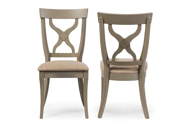Balmoral Dining Chair Distressed Light Gray (Set of 2)