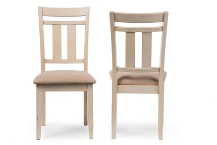 Baxton Studio Roseberry Dining Chair Distressed White (Set of 2)