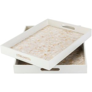 Alessandra Tray Set Of 2 White