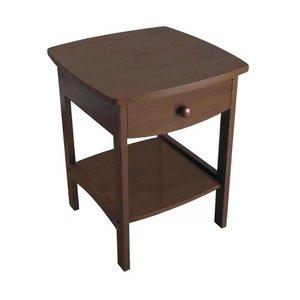 Chandler 1 Drawer Nightstand Walnut
