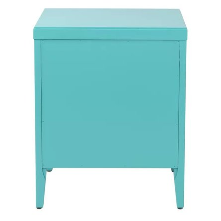 Kelly 3 Drawer Nightstand Turquoise