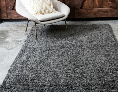 Vardar Dark Gray Area Rug