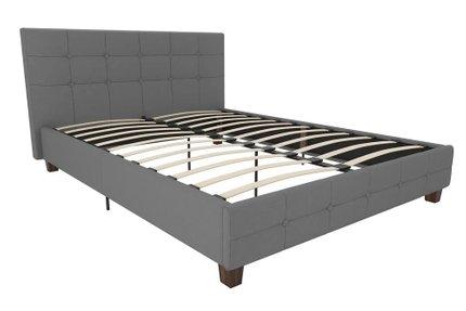 Amherst Upholstered Platform Queen Bed Gray