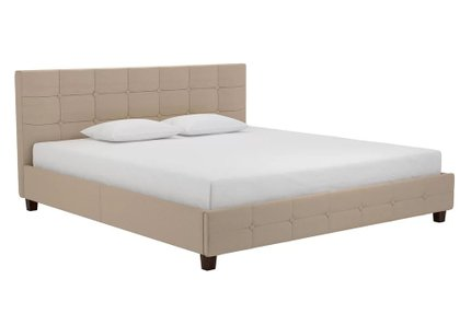Heartland Upholstered Platform King Bed Tan