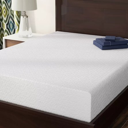 "Medium Memory Foam Queen 10"" Mattress White"