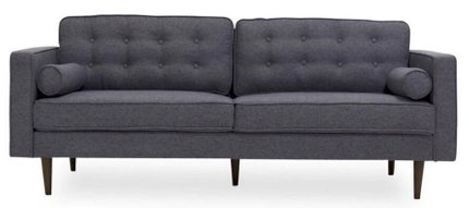 Kirby Loveseat Sofa Seaside Gray