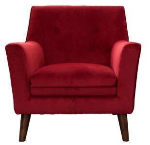 Burke Lounge Chair Red Velvet