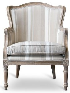 Traditional French Accent Chair Oak