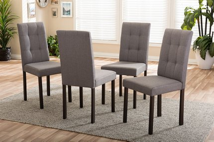 Andrew Dining Chair Gray (Set Of 4)