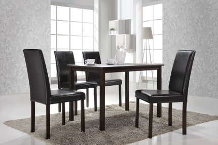Andrew Modern Dining Table Dark Brown