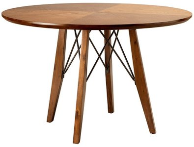 Clark Pecan Round Dining Table Walnut