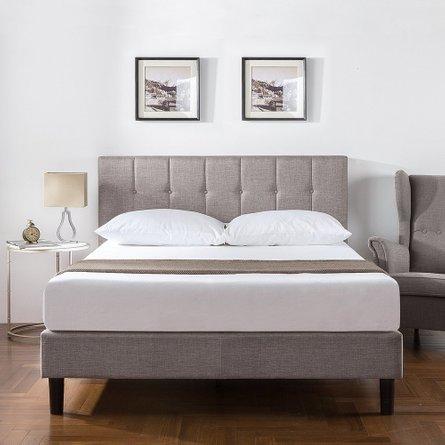 Chroy Upholstered Platform Queen Bed Gray