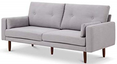 Brentwood Mid Century Sofa With USB Light Gray