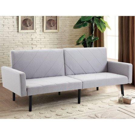 Giantex Convertible Sleeper Sofa Gray