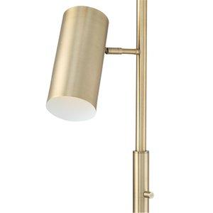 "Possini Euro Canasta Trac Tree Floor Lamp Satin Brass 67"""