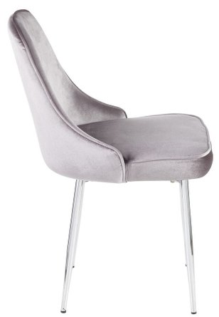 Marcel Dining Chair Silver & Chrome (Set of 2)