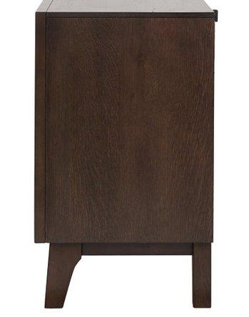 Bingham Retro Modern Nightstand Brown Oak