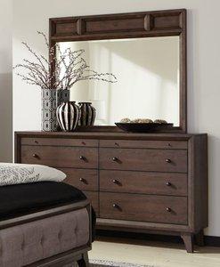 Bingham Retro Modern Dresser Brown Oak