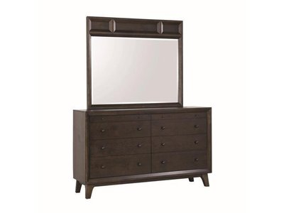 Bingham Retro Modern Dresser Brown Oak