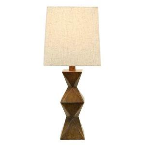 Salinger Table Lamp Dark Wood