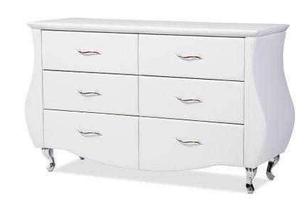Enzo 6-Drawer Dresser White