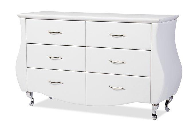 Baxton Studio Enzo 6-Drawer Dresser White
