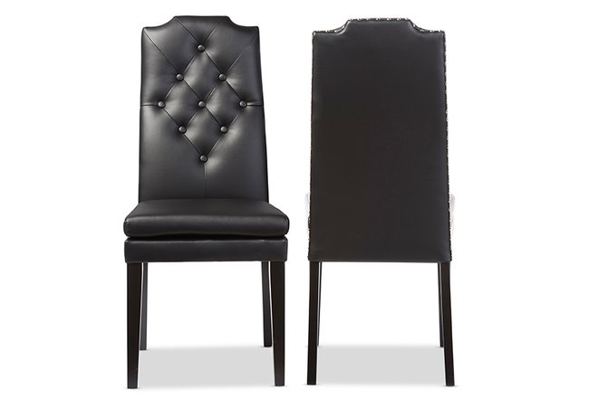 Baxton Studio Dylin Modern Dining Chair Black (Set of 2)