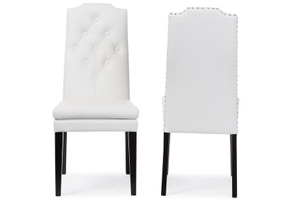 Dylin Modern Dining Chair White (Set of 2)