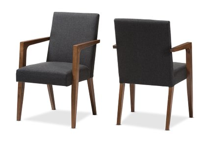 Andrea Dining Chair Dark Gray (Set Of 2)