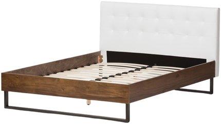 Mitchell Queen Bed White & Dark Bronze