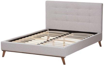 Valencia Queen Bed Greyish Beige