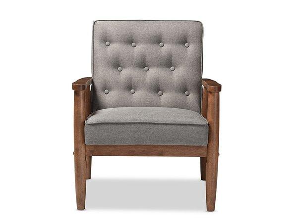 Baxton Studio Lounge Chair Gray