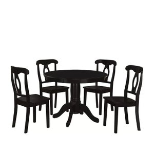 Gaskell Dining Set for 4 Black
